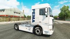 The Pema skin for the DAF truck for Euro Truck Simulator 2
