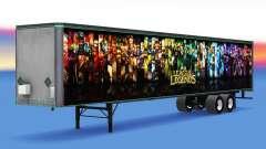 All-metal semi-trailer League of Legends for American Truck Simulator