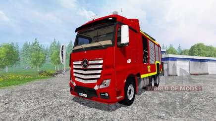 Mercedes-Benz Actros [reuerwehr] for Farming Simulator 2015