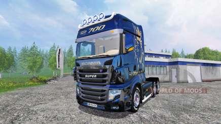 Scania R700 [blue black] for Farming Simulator 2015