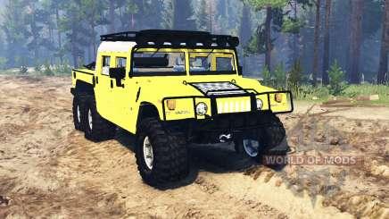 Hummer H1 6x6 Raptor v2.0 for Spin Tires