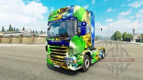 Skin Brasil 2014 for Scania truck for Euro Truck Simulator 2