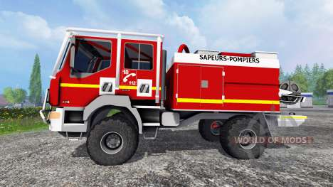 Renault Midlum Crew Cab 4x4 2009 [firetruck] for Farming Simulator 2015