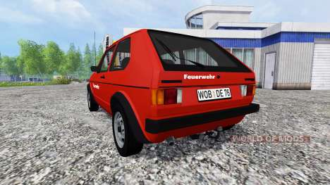 Volkswagen Golf I GTI [feuerwehr] v2.0 for Farming Simulator 2015