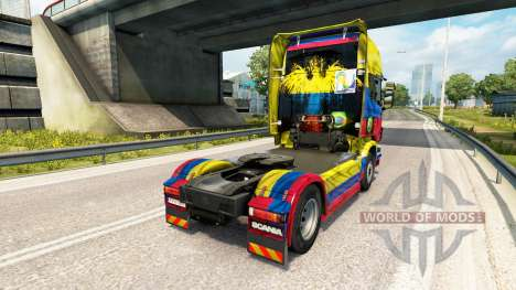 The Colombia Copa 2014 skin for Scania truck for Euro Truck Simulator 2