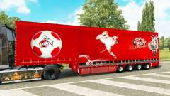 Krone curtain semi-trailer 1. FC Koln for Euro Truck Simulator 2