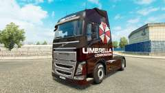 Umbrella Corporation skin for Volvo truck for Euro Truck Simulator 2