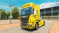 Schwertransport Hanys skin for Scania truck for Euro Truck Simulator 2