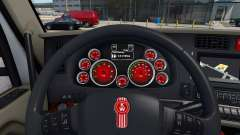 Red color of devices at a Kenworth T680 for American Truck Simulator