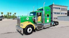 Boston Celtics skin for the Kenworth W900 tractor for American Truck Simulator