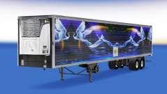 Skin CS Logistics 02 on the semitrailer-the refrigerator for American Truck Simulator