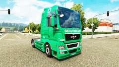 Skin Deichmann for tractor MAN for Euro Truck Simulator 2