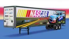 Skin on NASCAR's all-metal trailer for American Truck Simulator