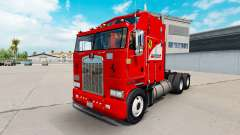 Scuderia Ferrari skin for Kenworth K100 truck for American Truck Simulator