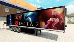 Skin Dota 2 on the trailer for Euro Truck Simulator 2