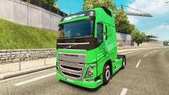 Green Arrow skin for Volvo truck for Euro Truck Simulator 2