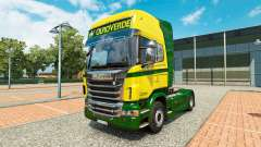 The Ouro Verde Transportes skin for Scania truck for Euro Truck Simulator 2