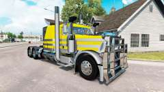 Скин Silvery-yellow metallic на Peterbilt 389 for American Truck Simulator
