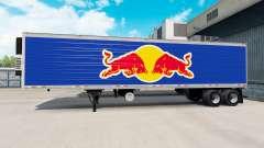 Skin Red Bull on the semitrailer-the refrigerator for American Truck Simulator