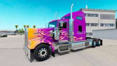 Skin California Flames on the truck Kenworth W900 for American Truck Simulator
