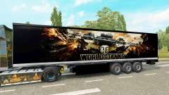 Skin World of Tanks on the trailer for Euro Truck Simulator 2