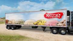 Skin Perrys Ice Cream on the semitrailer-the refrigerator for American Truck Simulator