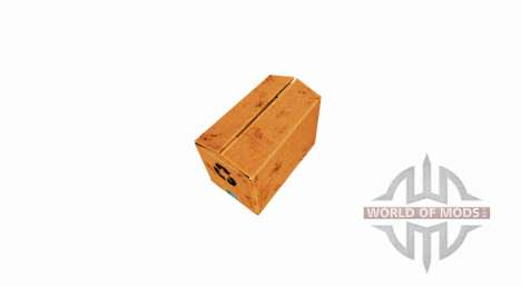 Box of corrugated cardboard with closed top for Farming Simulator 2017