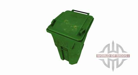 Plastic trash can for Farming Simulator 2017