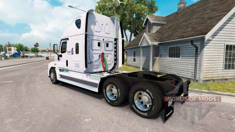 Skin Load One on a truck Freightliner Cascadia for American Truck Simulator