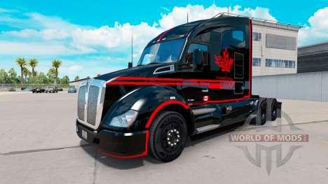 Skin Canadian Express Black truck Kenworth for American Truck Simulator
