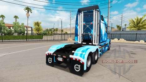 Fire skin for Volvo truck VNL 670 for American Truck Simulator