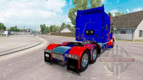 Skin Optimus Prime v2.1 for the truck Peterbilt  for American Truck Simulator