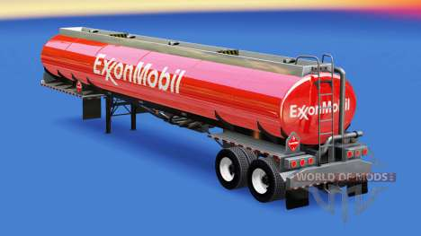 Skin ExxonMobil in the fuel tank for American Truck Simulator