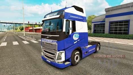 KLG skin for Volvo truck for Euro Truck Simulator 2