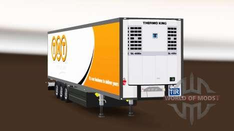 Semitrailer refrigerator Schmitz Cargobull TNT for Euro Truck Simulator 2