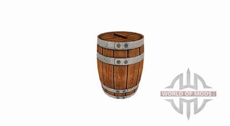 Wooden barrel for Farming Simulator 2017