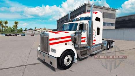 Skin Austria in truck Kenworth W900 for American Truck Simulator
