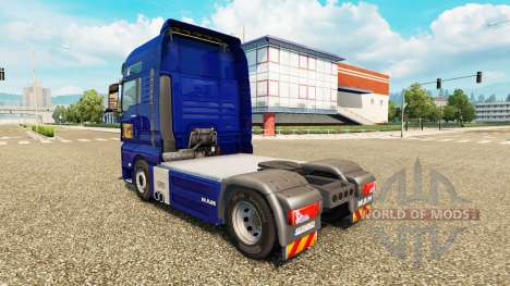 Skin Gefco for tractor MAN for Euro Truck Simulator 2