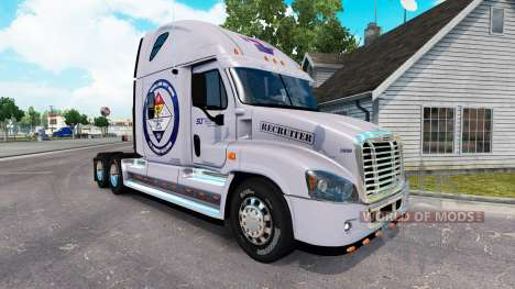 Skin Secured Land for a tractor Freightliner Cas for American Truck Simulator