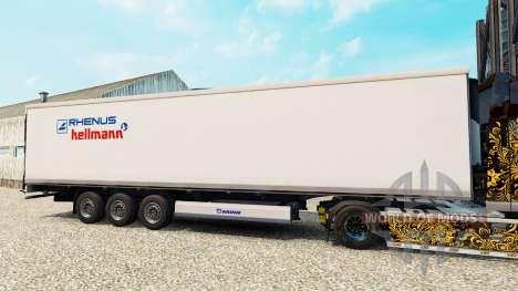 Skin Rhenus Hellmann on the semitrailer-the refr for Euro Truck Simulator 2