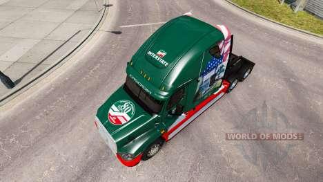 Скин INTERSTATE 80 Year на Freightliner Cascadia for American Truck Simulator