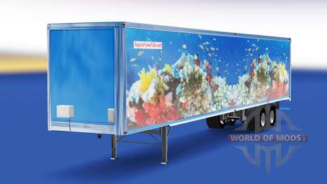 Skin Fish v2.0 on the semi-trailer for American Truck Simulator