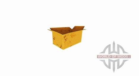 Box of corrugated cardboard with an open top for Farming Simulator 2017