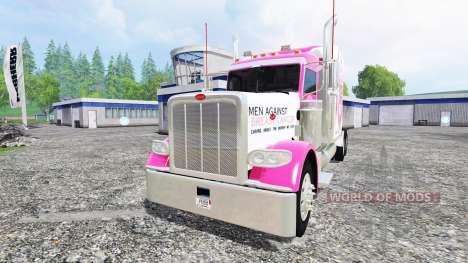 Peterbilt 388 [breast cancer] for Farming Simulator 2015