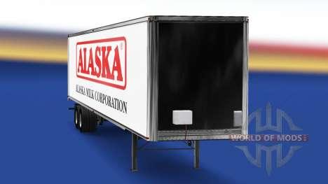 Skin Alaska Milk Corporation on the trailer for American Truck Simulator