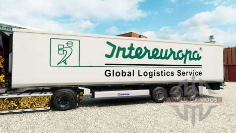 Skin Intereuropa on the semitrailer-the refriger for Euro Truck Simulator 2