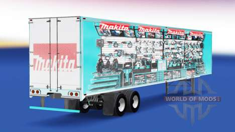 Skin Makita v2.0 on the semi-trailer for American Truck Simulator