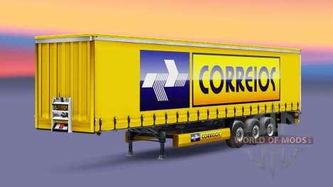 Correios Logistic skin for trailers for Euro Truck Simulator 2