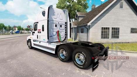 Скин P.A.M.Transport2 на Freightliner Cascadia for American Truck Simulator