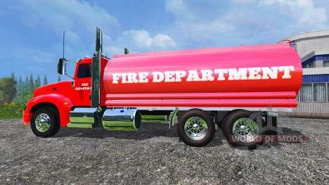 Peterbilt 387 Fire Department for Farming Simulator 2015